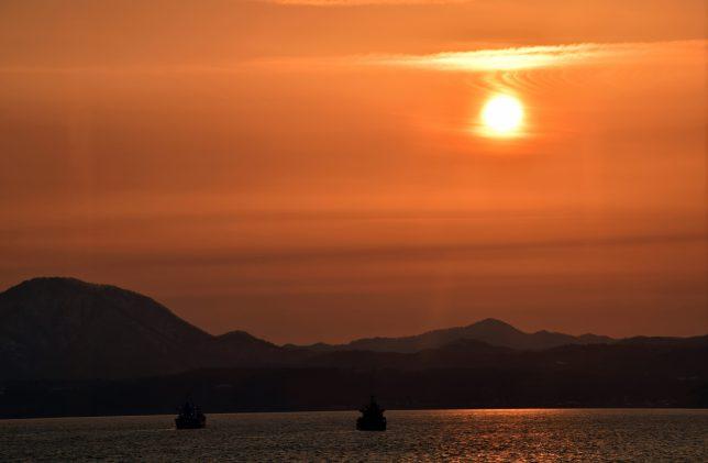 モーリエから見る夕陽