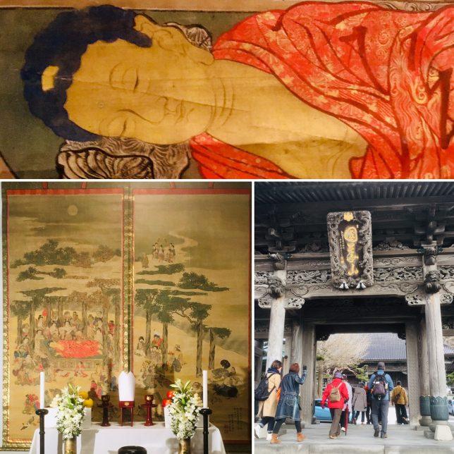国華山高龍寺所蔵・掛軸二幅・釈迦涅槃図