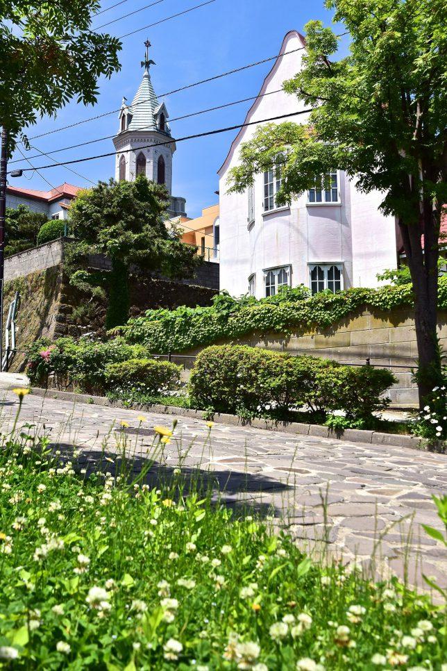 亀井勝一郎実家とカトリック元町教会