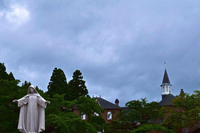 帰りにトラピスト修道院に寄った。