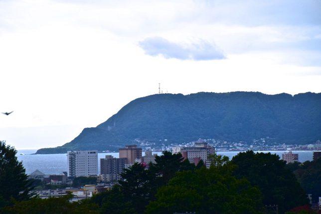 函館市街地が見えた。