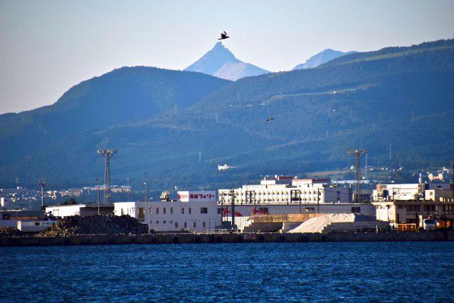 北の方を見ると遠くに駒ヶ岳の頂上が綺麗に見えた。